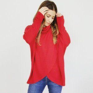 Joan Vass Draped Knit Top